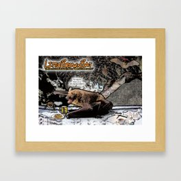 Little Brown Bat: Air-raging Honkers Framed Art Print
