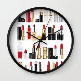 The Lipsticks Shelf Wall Clock
