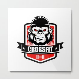 Gorilla fitness gym and sport Metal Print