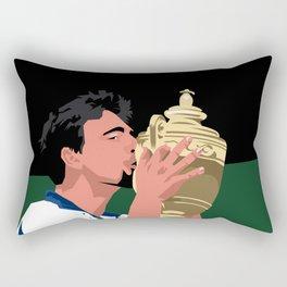 Goran Ivanisevic - Wimbledon trophy kiss Rectangular Pillow