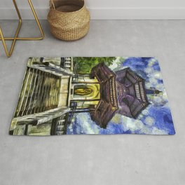 The Pagoda Vincent Van Gogh Rug