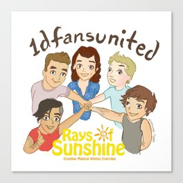 1D fans united to raise money for Rays of Sunshine! Canvas Print