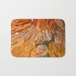 Weaved Flowers Bath Mat
