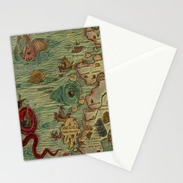 Antique Map Stationery Cards