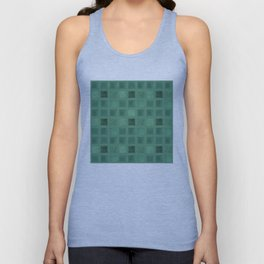 Colorful geometric pattern grunge Tile . Green emerald color . Unisex Tank Top