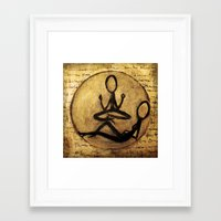 om Framed Art Prints featuring om by woman