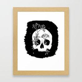 Galium odoratum Skull Framed Art Print