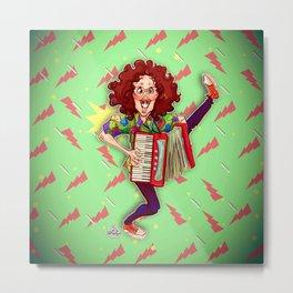 Alfred (Weird Al) Yankovic and Harvey the Wonder Hamster Metal Print