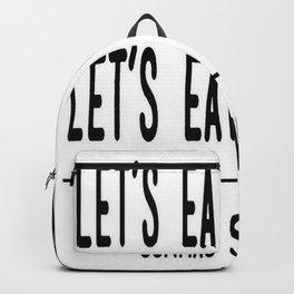 Let's Eat Grandma - Commas Save Lives Backpack
