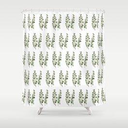 Eucalyptus (watercolor finger painting) Shower Curtain