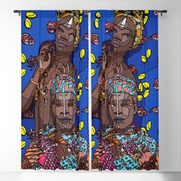 African couple #linedrawing #couplegoals #africanstyle Blackout Curtain