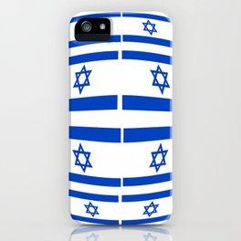 flag of israel 12-יִשְׂרָאֵל ,israeli,Herzl,Jerusalem,Hebrew,Judaism,jew,David,Salomon. iPhone Case