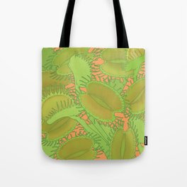 Free Hugs (Venus flytrap - Orange) Tote Bag