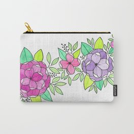 Peonies  Watercolor Carry-All Pouch