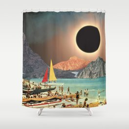 Eclipse Beach Shower Curtain