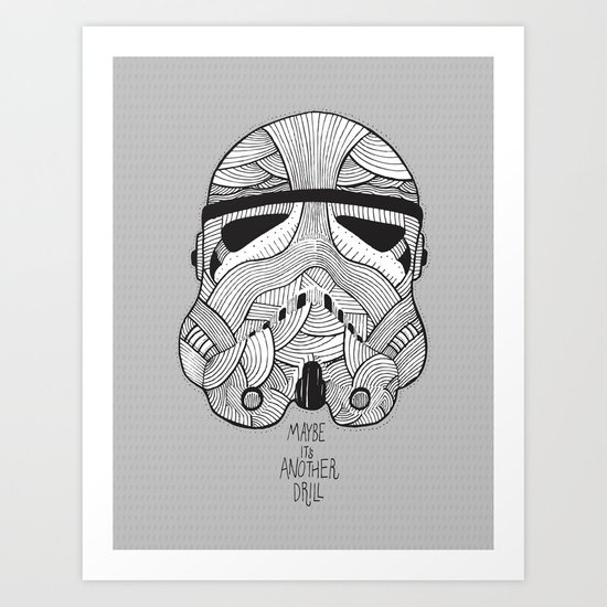Stormtrooper: Another Drill (grey) Art Print