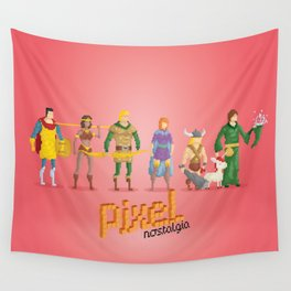 Dungeons and Dragons - Pixel Nostalgia Wall Tapestry