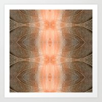 gray pattern Art Prints featuring pink-gray pattern by giol's