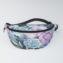 Dark Floral Spring Fanny Pack
