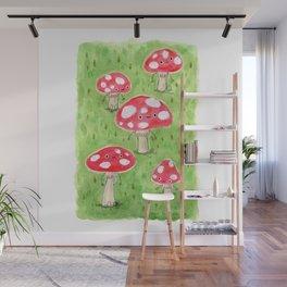 Sentient Mushrooms Wall Mural