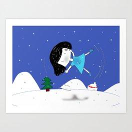 Bluey flips on ice Art Print