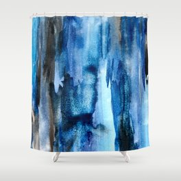 Deep Lapis Shower Curtain