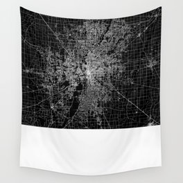 Indianapolis map Wall Tapestry