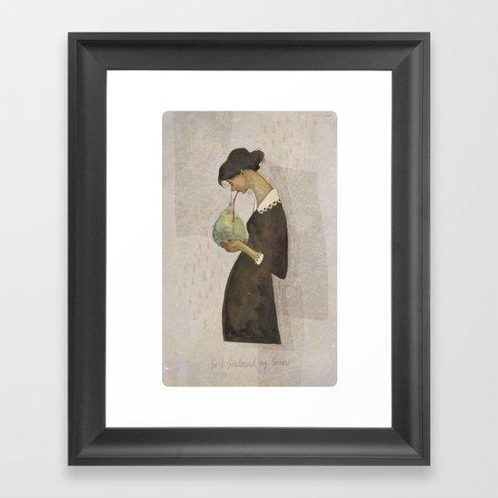 So I swallowed my sorrow Framed Art Print
