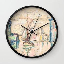 "Paul Signac ""Entrance to the Harbor of La Rochelle"" Wall Clock"