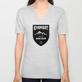 Mount Everst Base Camp Unisex V-Neck