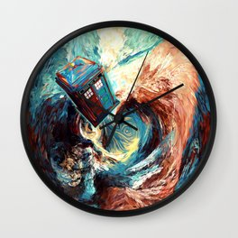 Tardis doctor who at starry night Dark Vortex iPhone 4 4s 5 5c 6, pillow case, mugs and tshirt Wall Clock