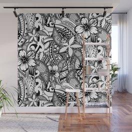 Hawaiian Polynesian Trbal Tatoo Print Wall Mural