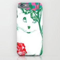 flower and cat iPhone 6s Slim Case