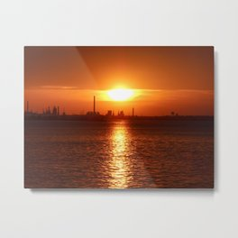 Sun Kissed By The River Metal Print