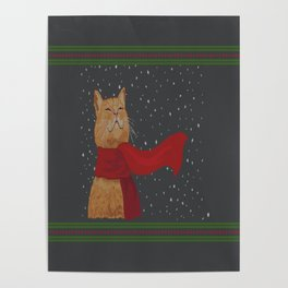 Knitted Wintercat Poster