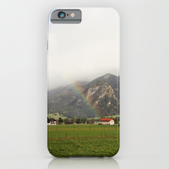 Rainbow in the Valley iPhone & iPod Case