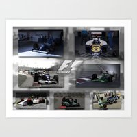 f1 Art Prints featuring F1 Collection by ouroboros888