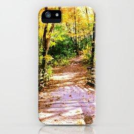 Fall Bridge iPhone Case