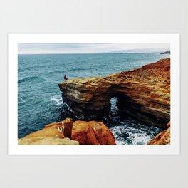 Point Loma Cliffs Art Print