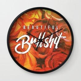 Beautiful Bullshit Wall Clock