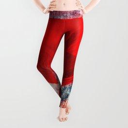 Red Poppy 157 Leggings
