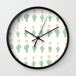 Cactus Pattern - arranged Wall Clock