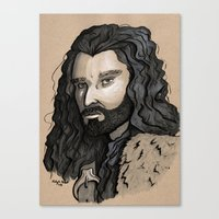 thorin Canvas Prints featuring Thorin by Katy-L-Wood