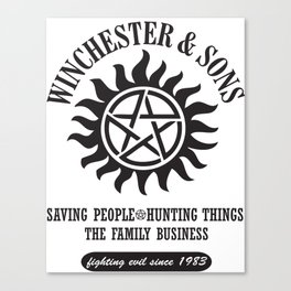SUPERNATURAL WINCHESTER AND SONS Canvas Print