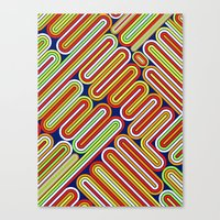 70s Canvas Prints featuring 70s Kitsch by Roberlan Borges
