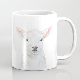Lamb Face Watercolor Coffee Mug