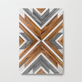 Urban Tribal Pattern 4 - Wood Metal Print