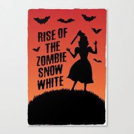 Halloween Zombie Snow White Humor Horror Canvas Print