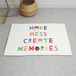 Make mess create memories Rug