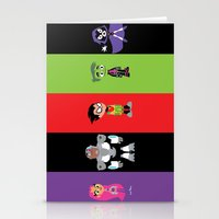 teen titans Stationery Cards featuring Teen Titans Go by Adrian Mentus